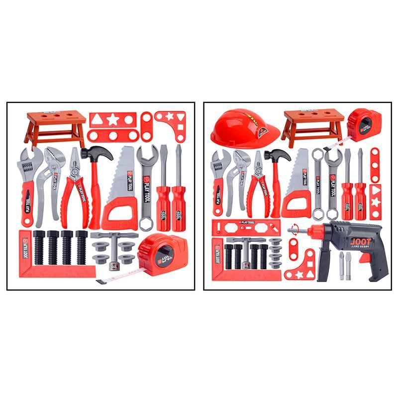 1 Satz Kinder Toolbox Spielzeug Set Simulation Reparatur Werkzeug Bohrer Schraubendreher Reparatur Kit Haus Spielen Spielzeug Werkzeug Set Für 3-14 Jahre Alt SchöN In Farbe