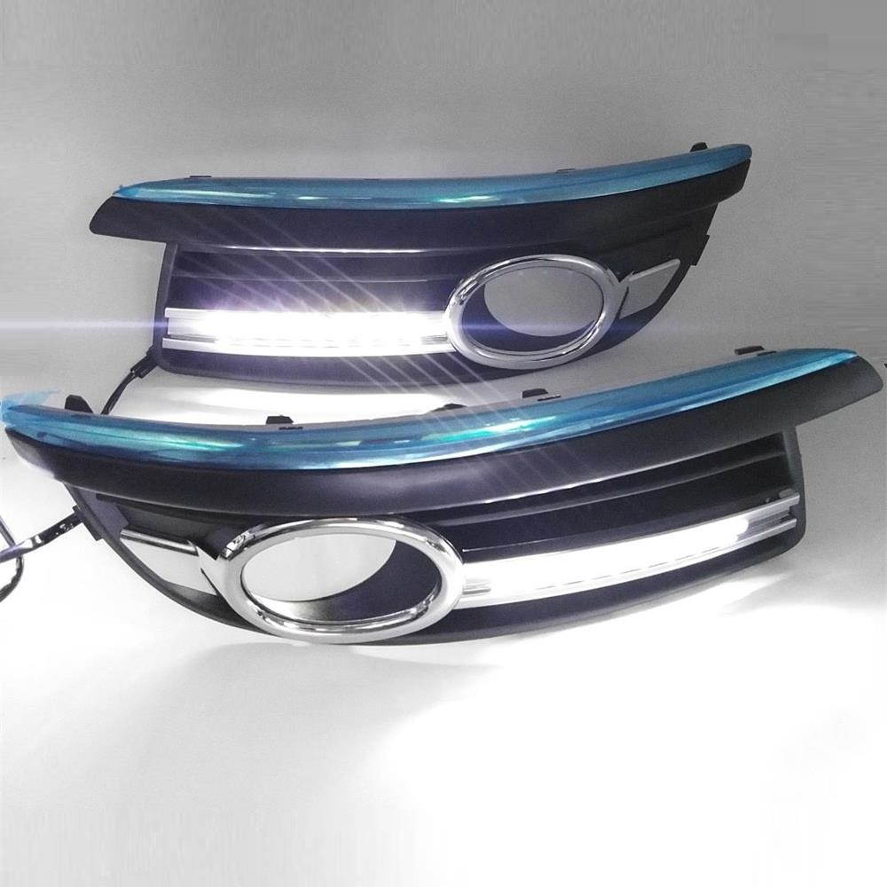For VW Jetta 5 A5 MK5 2005 2006 2007 2008 2009 2010 LED DRL Daytime Running Lights With Wire Of Harness