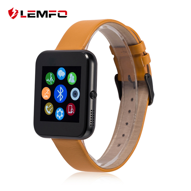 LEMFO LF09 Leather Band Bluetooth Smart Watch Pedometer Anti Lost Sync Message for IOS Android Phone