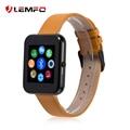 Lemfo lf09 couro banda bluetooth smart watch pedômetro anti perdido mensagem sync para android ios telefone