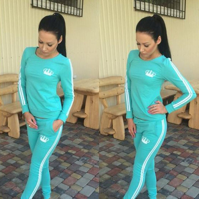 Autumn Sweat Suit Set For Women Tracksuit Long Sleeve Print Sweatshirt Pant Two Piece Set Female Casual Sportswear Outfit DG242