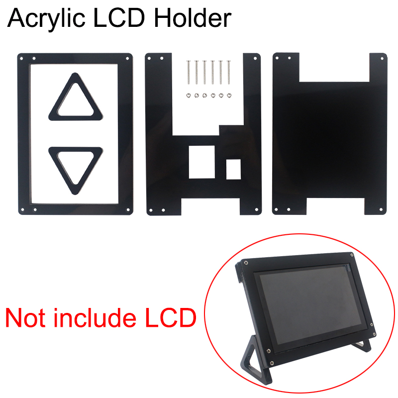 Acrylic Holder Of Designated Raspberry Pi 5 Inch Touch Screen LCD Support Case ( Not For Other LCD )