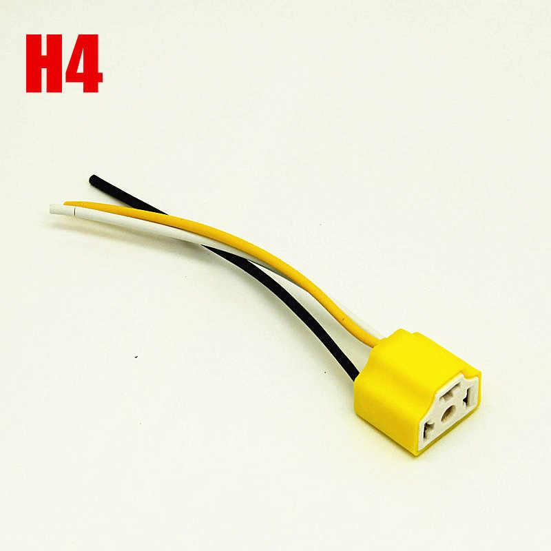 1pcs H7 H4 H1 9005 9006 H8 H11  halogen bulb extension power plug adapter LED light connector socket