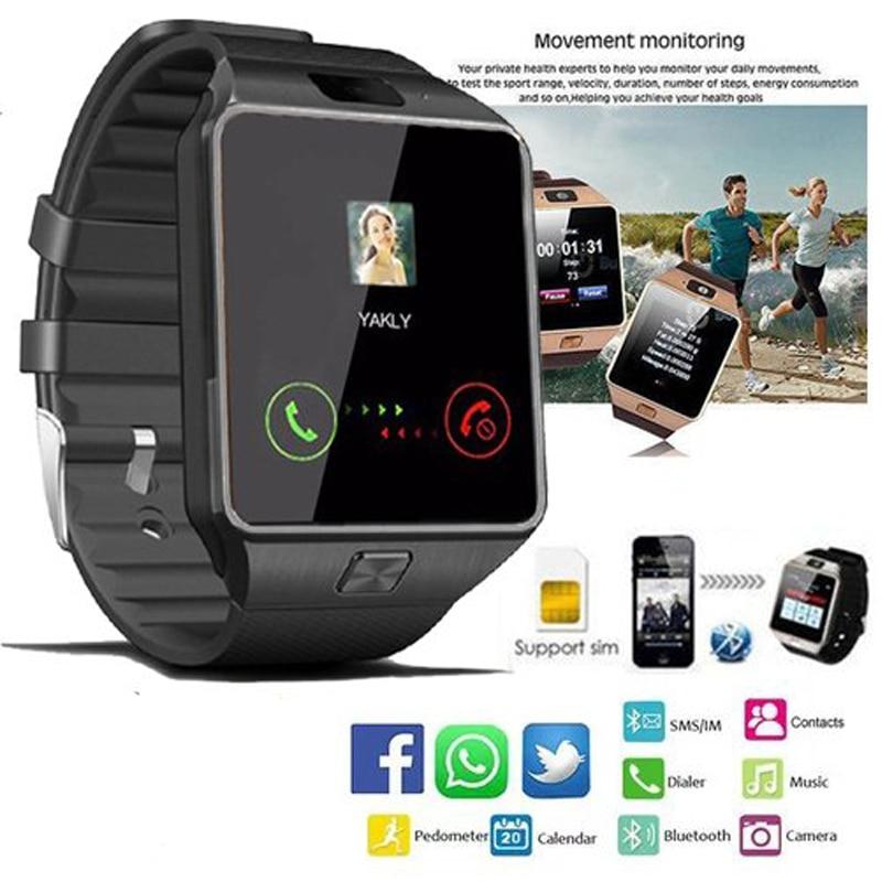 2018 Nuovo DZ09 Astuto Della Vigilanza Degli Uomini Pedometro Bluetooth Chiamata di Telefono SIM Dispositivi di Sport degli uomini di TF Con La Macchina Fotografica Smartwatch per IOS iPhone