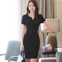 TUHAO Plus Size 2XL 3XL Women Office Lady Dress Knee Length Elegant Summer Pencil Dresses Work Elegant Work Women Dresses HN223