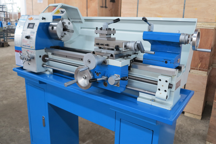 machine tool Mini bench lathe JY290VF household small metal lathe precision instrument lathe machine tool bench lathe 38mm hole недорго, оригинальная цена