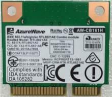 Azurwave mini cartão rtl8821ae, AW-CB161H AW-CB161N mbps 802.11ac sem fio bluetooth 433 cartão