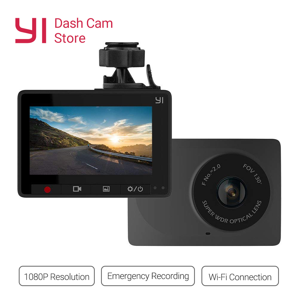 YI Compact Dash Cam 1080p Full HD Car Dashboard Camera 2.7inch LCD Screen 130 WDR Lens G-Sensor Night Vision Loop RecorderYI Compact Dash Cam 1080p Full HD Car Dashboard Camera 2.7inch LCD Screen 130 WDR Lens G-Sensor Night Vision Loop Recorder