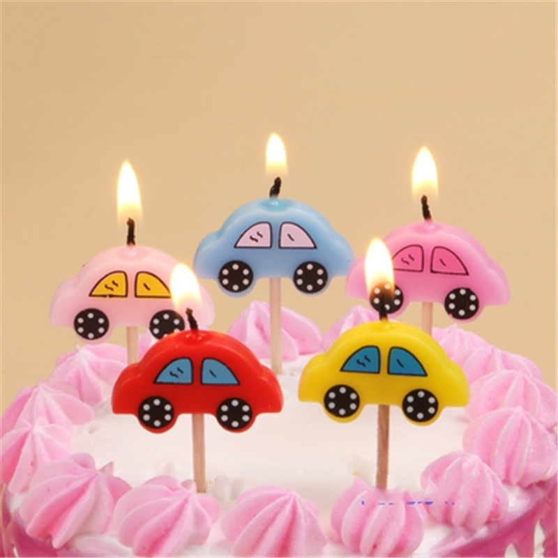 BUSES Novelty Birthday Cake Candle Candles Topper Figure