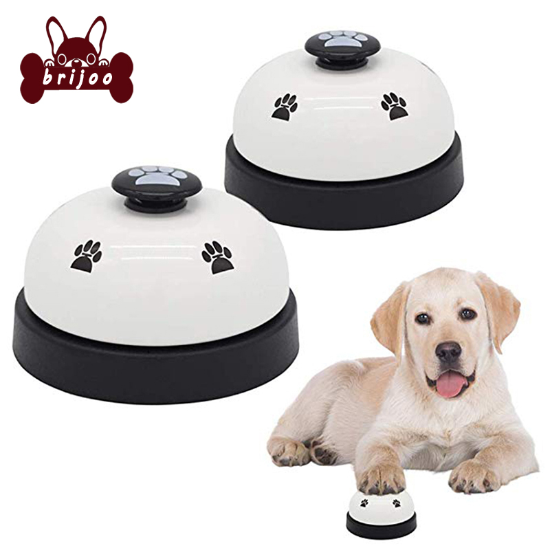 Dog Toys For Teddy Puppy Pet Toy Call Feeding Ringer Pet Training Doorbell Dinner Small Bell Eating Food Feeder Footprint Ring