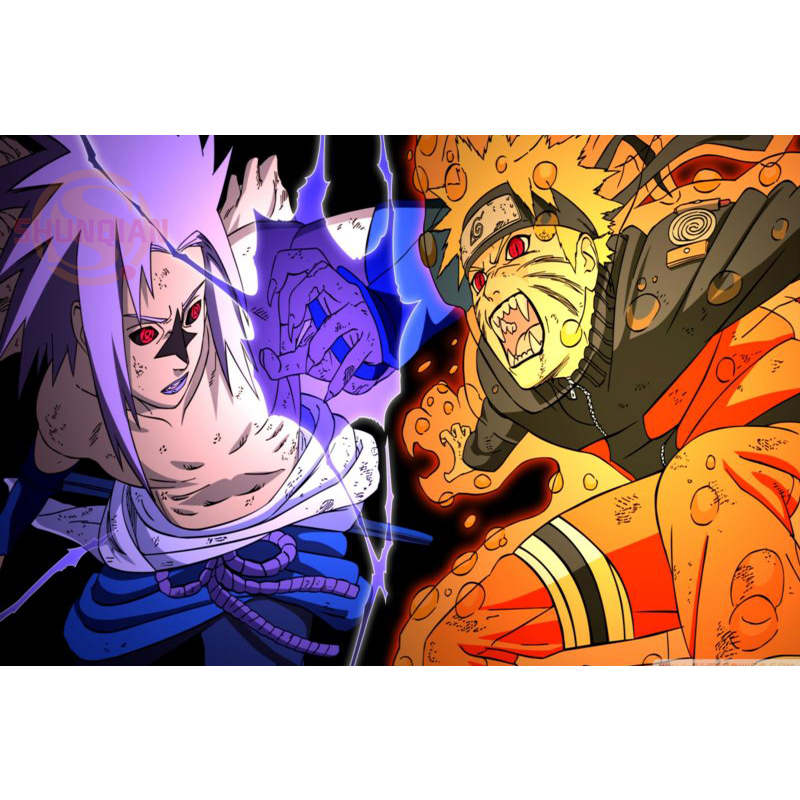 Naruto Poster Print Silk Fabric Cloth Wall Custom Satin Yf