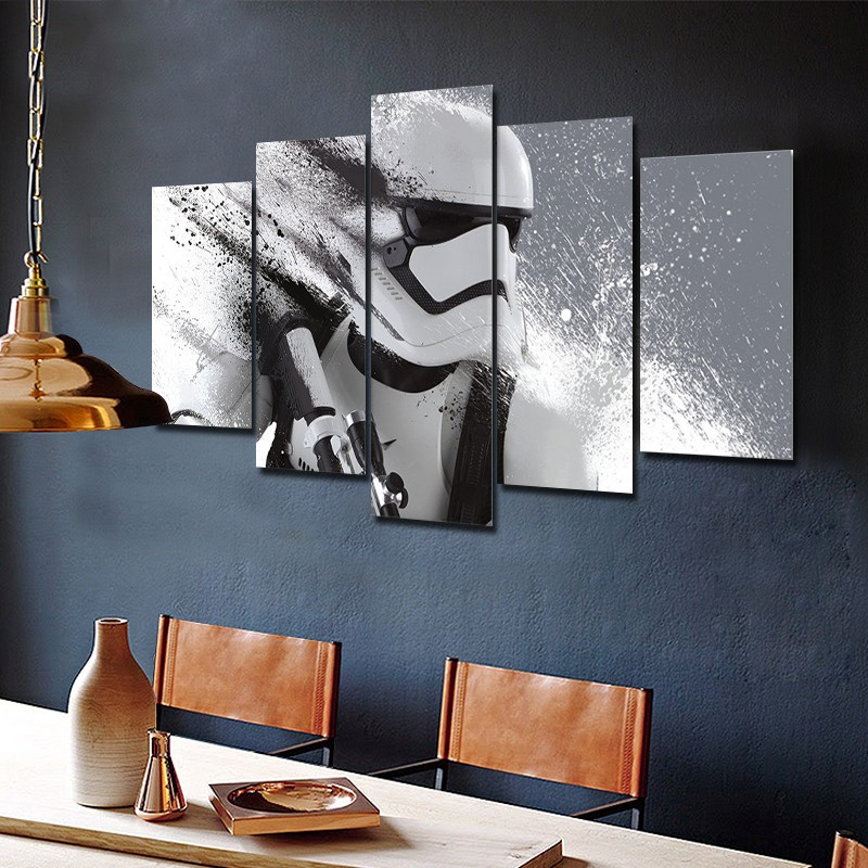 Wall art Nowoczesne malarstwo na płótnie Home Decor Wall Art Poster Home Decor Drukuj Stormtrooper Star Wars Movie Modular Paintings