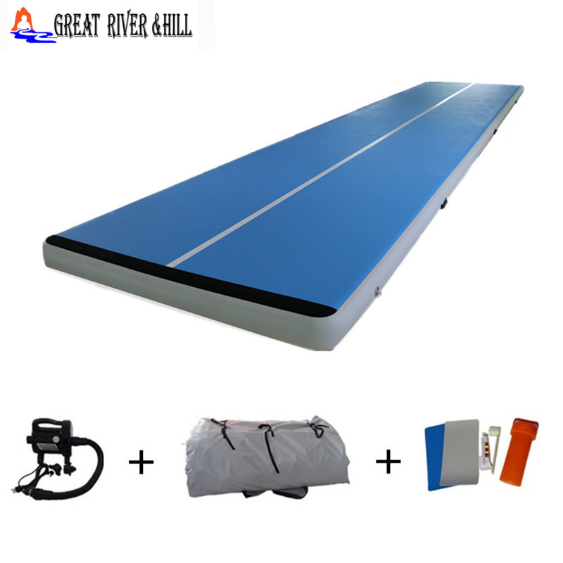 Indoor Use Sports Air Mat For Gymnasitcs Inflatable Mat Airtrack 6mx2mx20cm