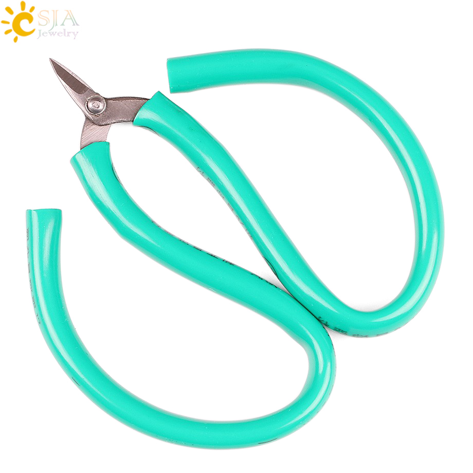 CSJA DIY Jewelry Hand Tool Cutting Multi Functions Cable Cutters Snip Male Female Jewellery Wholesale Retail Plastic Handle E190