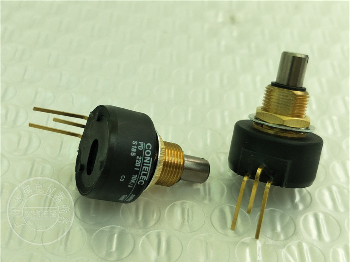Original new 100% Switzerland import PD2201 10K/J PD220I PD220I10K swiss potentiometer 10K gold-plated feet (SWITCH) spanish two tone double potentiometer 10k 50k