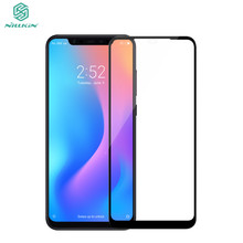 NILLKIN 3D Curved Round Edge Tempered Glass For Xiaomi Mi 8/Mi8 Full Coverage Screen Protector Glass Film For Xiaomi Mi 8 SE