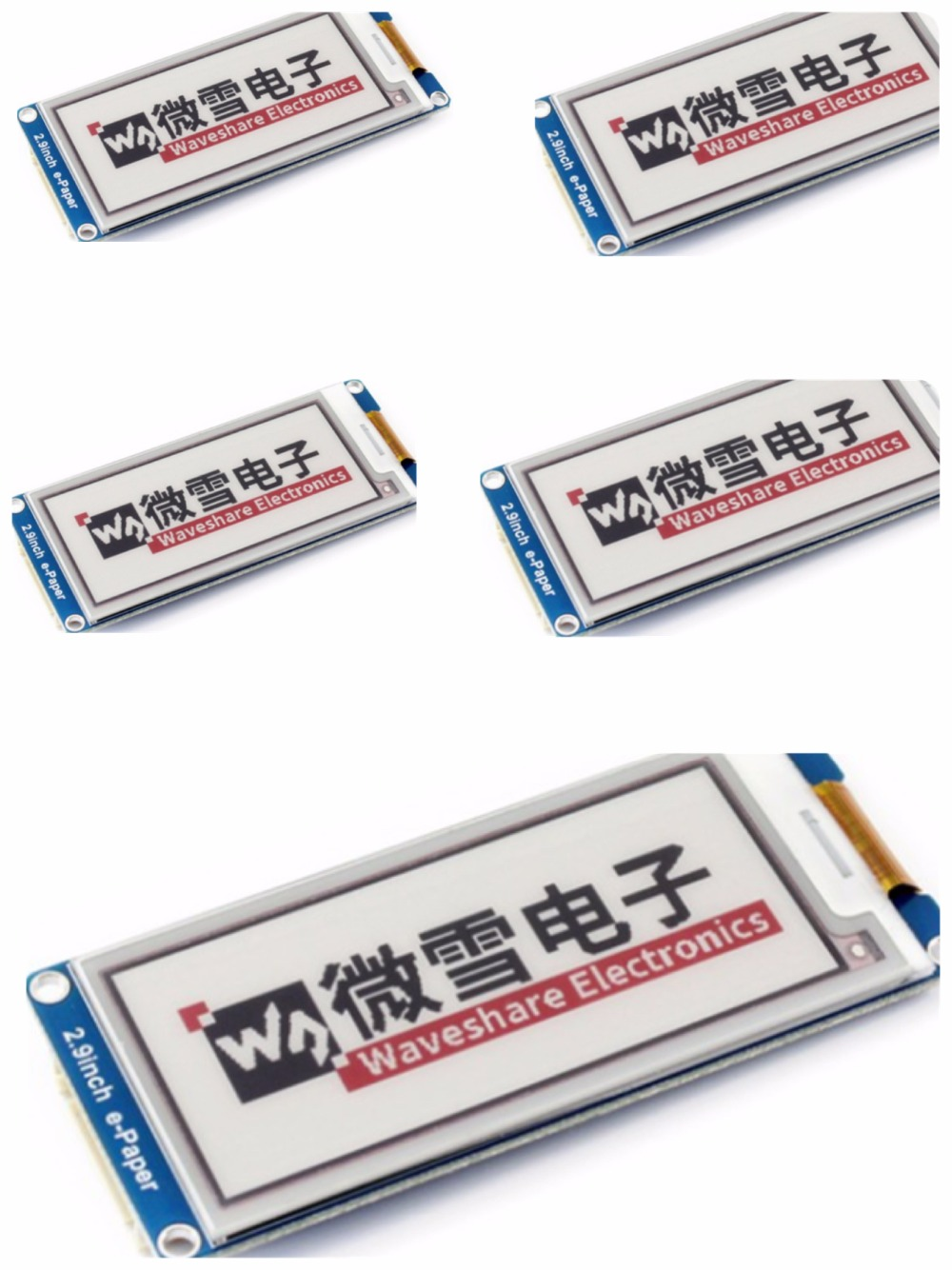 Parts 2.9inch E-Ink display module,2.9'' e-paper,296x128,Three Display color: red,black,white, SPI interface,No backlight, wide 4 2 e paper 400x300 4 2inch e ink display module display color black white no backlight wide angle spi interace