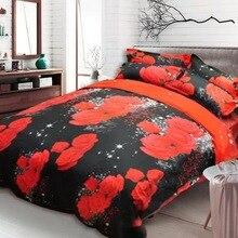 新美しい3D花ローズ饗宴寝具セットベッドシーツ布団カバーベッドシート枕カバー4ピース/セットホット販売