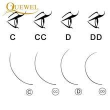 Extensions de cils individuels Quewel Extension de cils de vison faux cils Extension de cils de soie professionnelle en gros cils simples maquillage cils