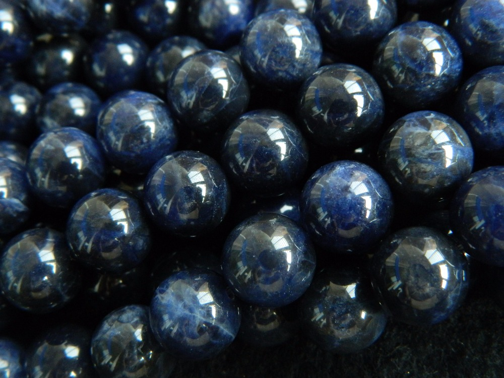 Free Shipping Natural Grade A 10mm South Africa Sodalite Round Beads For Jewelry Making