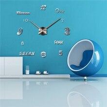 2017 nuevo reloj de pared de acrílico espejo relojes reloj de comparación reloj de cuarzo horloge casa moderna sala de estar Pastoral diy 3d pegatinas