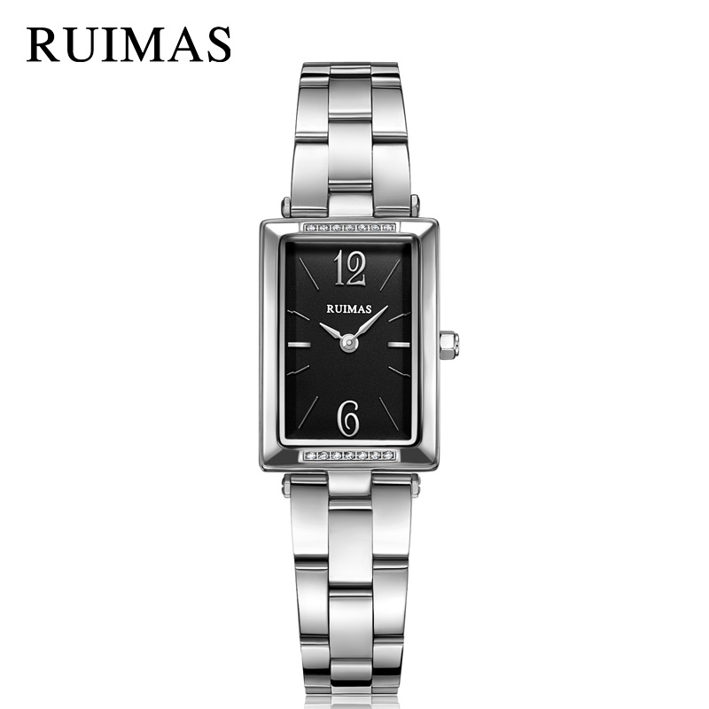 Ladies Watch RUIMAS Luxury Women Bracelet Watches Relogio Feminino 2018 New Brand Fashion Rectangle Quartz Clock Montre Femme ruimas leather women watches fashion luxury ladies quartz watch clock relogio feminino montre femme lover watch for girl