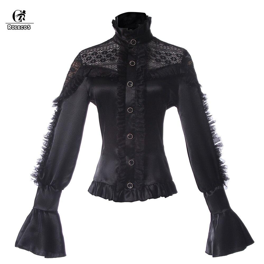⊰Rolecos Gothic Lolita negro para Niñas clásico negro manga larga ...