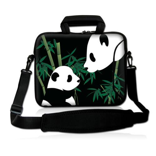Panda Soft Laptop Sleeve Shoulder Bag Protective Zipper Notebook Case Computer Cover for 11 13 14 15 For Macbook Air Pro Retina