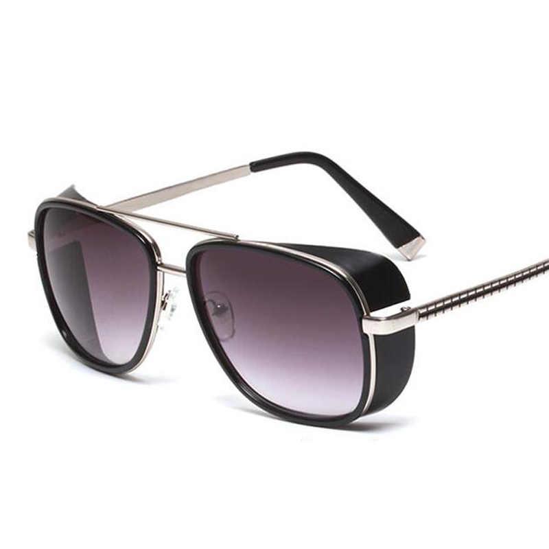 da545355276 Classic IRON MAN 3 Matsuda TONY Steampunk Sun glasses Men Mirrored Designer  Brand Glasses Vintage Sun