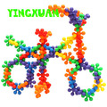 HAPPYXUAN 50pcs/pack Kids Plastic Flower Building Blocks Educational Kits Sets for kid's Creativity Kindergarten toys
