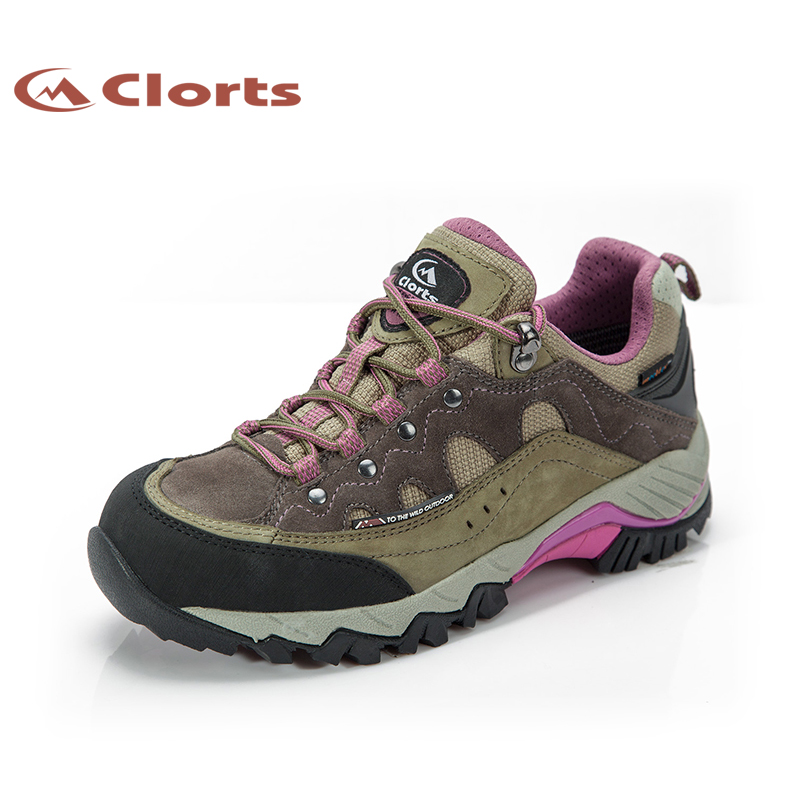 2018 Clorts Womens Walking Shoes Waterproof Outdoor Sports Shoes Mountain Climbing Shoes Nubuck For Women Free Shipping HKL-815C 2018 merrto womens outdoor walking sports shoes breathable non slip travel shoes for women purple rose red free shipping mt18665
