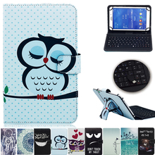 New Print 10 inch Universal  Case Cover With USB keyboard For Android Tablet For Samsung Tab For Lenovo For Huawei For Asus