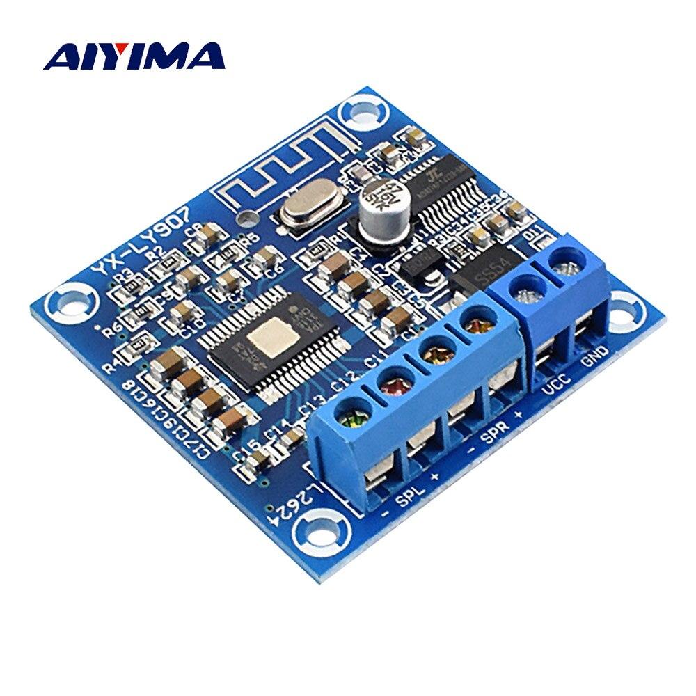 AIYIMA Bluetooth 4.2 Power Amplifier Board TPA3116D2 Digital Audio Amplifier Module AMP 2.0 Channel Stereo 50W*2 DC12-24V