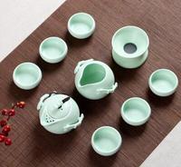 Top ceramics tea set 10 piece tea set crafts handmade teapot best kungfu Ruyao teaset