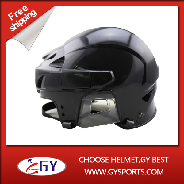 ФОТО CE approved ice hockey player helmet foam of protection adjust the visor or cage mask hockey skates mens