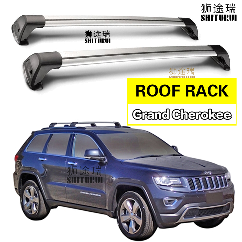 2 pcs For JEEP Grand Cherokee 2011 2018 roof bar car special aluminum alloy belt lock Led shooting lamp Roof luggage compartmen