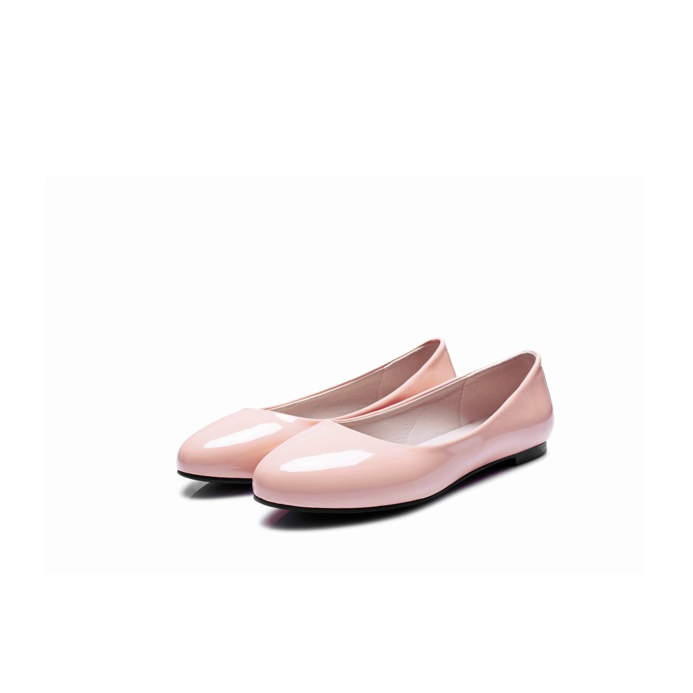 נשים   s flats - MORAZORA PU patent leather shoes woman single shoes ... 03ac342773e4