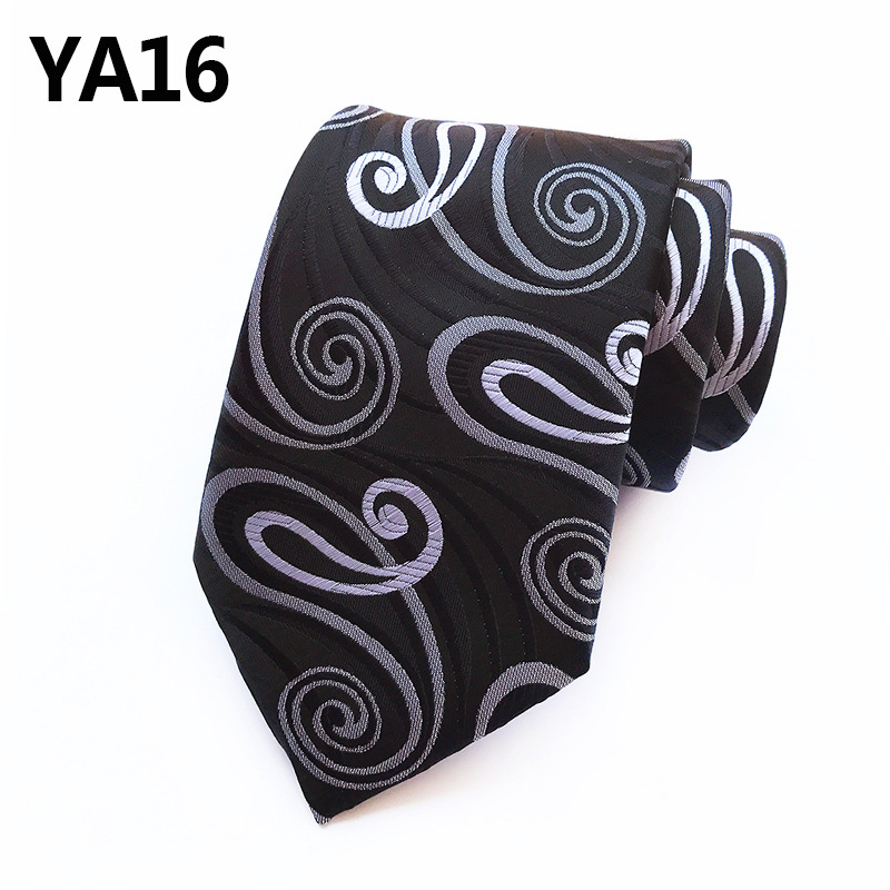 Fashion Paisley Tie For Men Silk Floral Flower Tie Classic Mens 8CM Necktie Tie For Wedding Party Gifts For Men