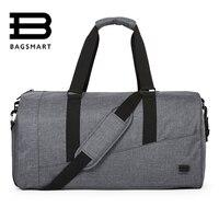 BAGSMART Men Travel Bag Large Capacity Carry On Luggage Bag Nylon Travel Duffle Shoe Pocket Overnight