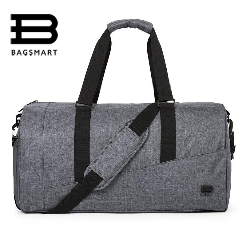 BAGSMART font b Men b font Travel Bag Large Capacity Carry on Luggage Bag Nylon Travel