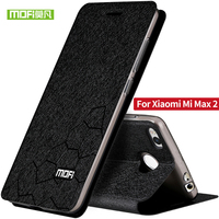 Original Mofi Phone Case For Xiaomi Mi Max 2 Ultra Thin Flip Luxury Fashion Stand Leather