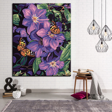 Butterflies And Flowers Picture By Numbers DIY Painting Kits Hand paited On Linen Canvas Modern Home Decorative Wall Artwork