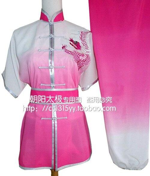 Gradienti Fu Tai Chi Pratique Nan Quan Uniforme D'arts martiaux Vêtements pour Hommes Femmes manches courtes Enfants Jouer Dragon