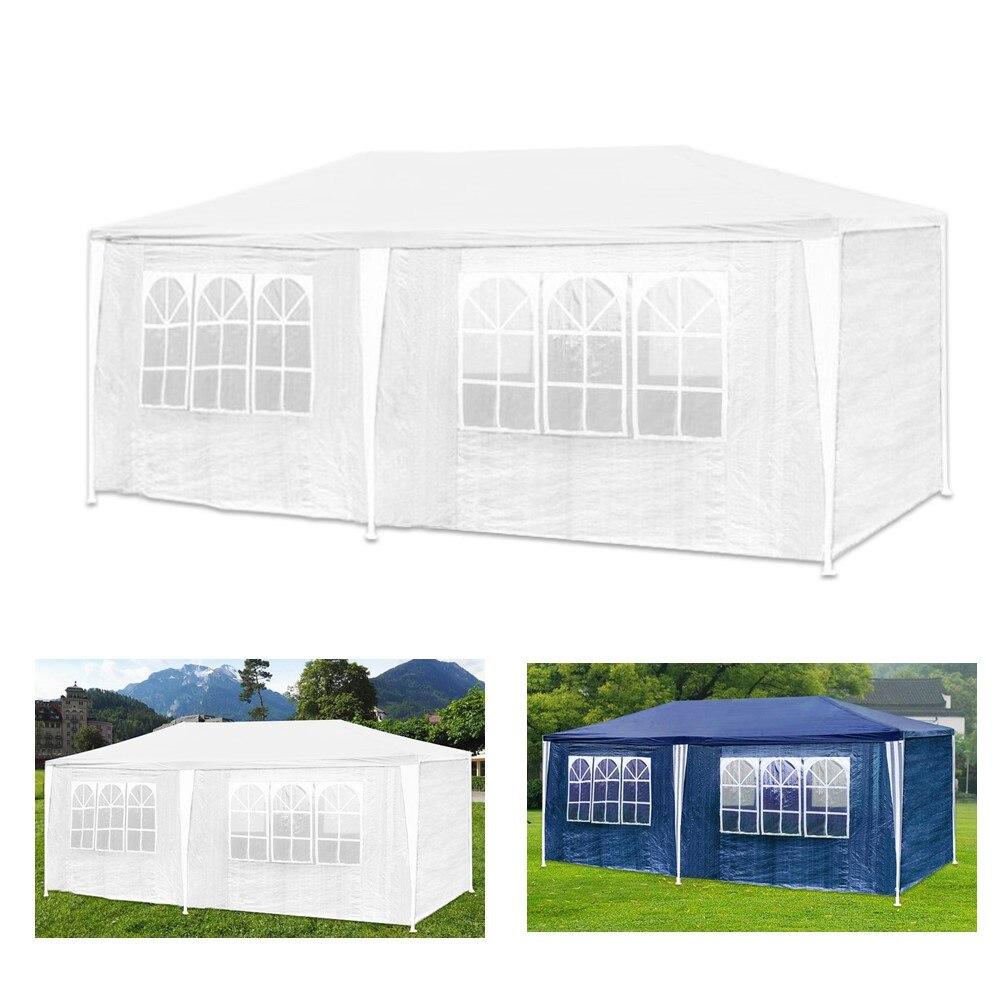3X6 m na zewnątrz ogród Party Gazebo namiotowe namiot baldachim markizy wodoodporna 6 boczne ściany 12 łukowate okna kolor biały niebieski