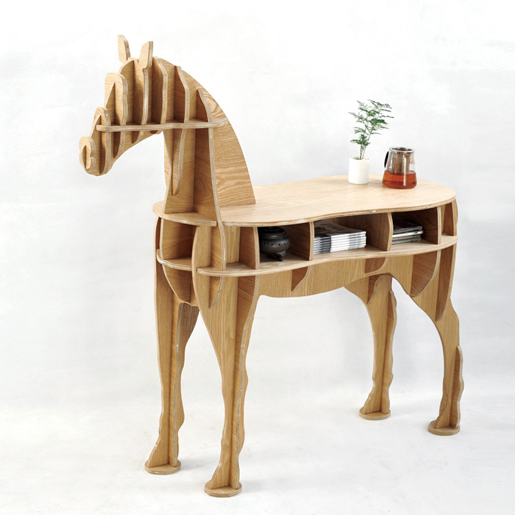 FREE SHIPPING Factory wholesale European Arts Crafts Home Decoration wooden horse simulation wood furniture coffee table factory wholesale european style rhino wood coffee table desk craft gift desk self build puzzle furniture free shipping