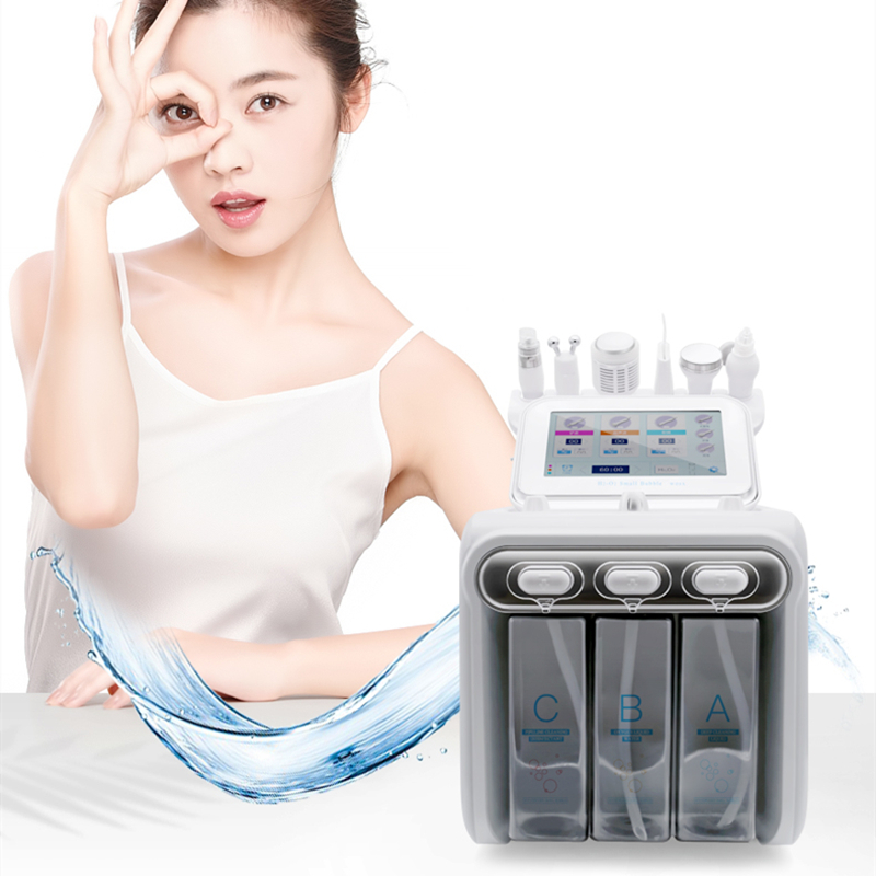 6 In 1 Hydrogen Oxygen Beauty Machine Deep Cleaning Skin Rejuvenation Machine With Radio Frequency Skin Scrubber Dermabrasion