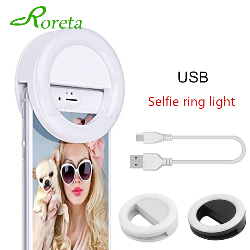 Roreta New USB Charge Selfie Portable Led Phone Photography Ring Light Enhancing  Photography for iPhone Smartphone Selfie lightRoreta New USB Charge Selfie Portable Led Phone Photography Ring Light Enhancing  Photography for iPhone Smartphone Selfie light