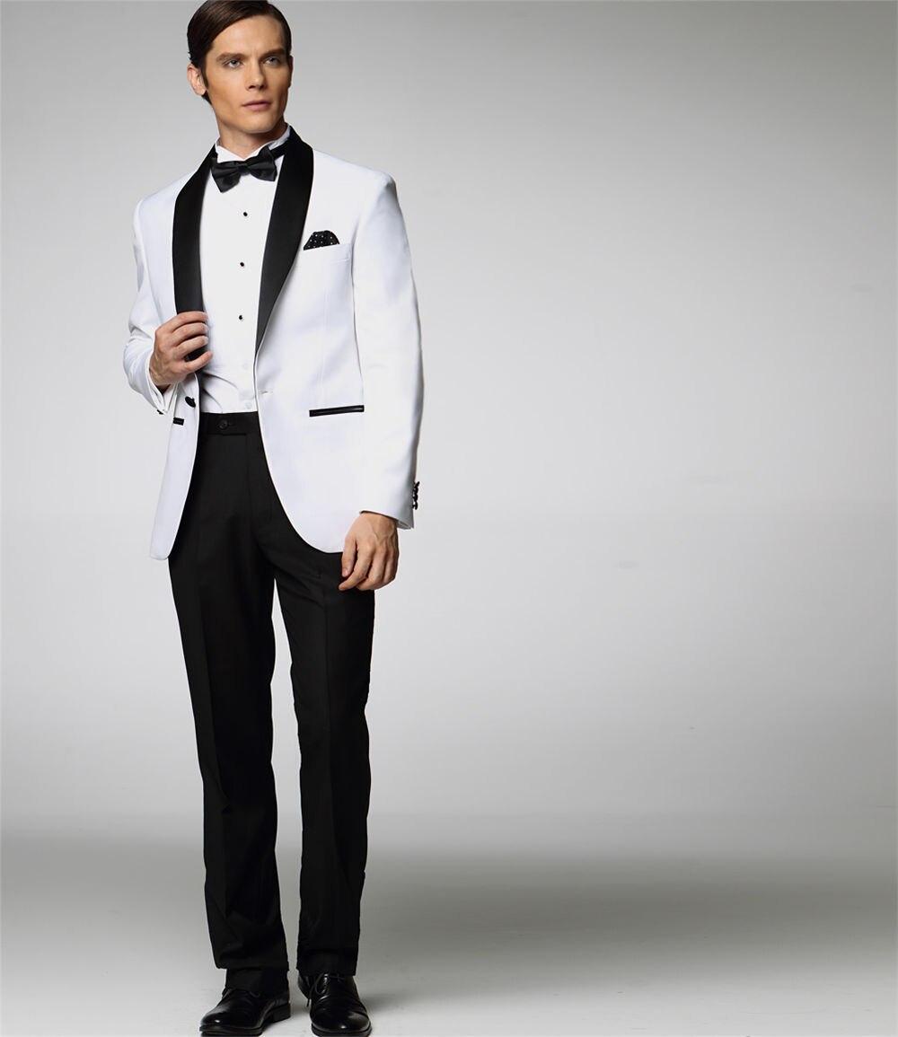Two Pieces High Quality Custom Made Men's Clothing Suprem Off White Jacket For Men Long Sleeve Blazer Men Coat Groomsmen Suits