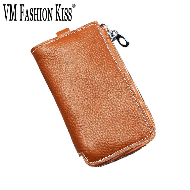 b9aa3980662a9 VM FASHION KISS Key Holder Wallet Men Women Genuine Leather Keys Case Money  Clip Casual Soft