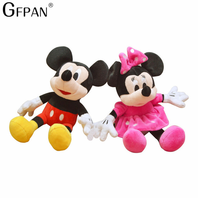 2pcs/lot 30cm Hot Toys Mickey Mouse and Minnie Mouse Stuffed Soft Cartoon Animal Plush Toys Kids Baby Love Dolls Classic Gifts
